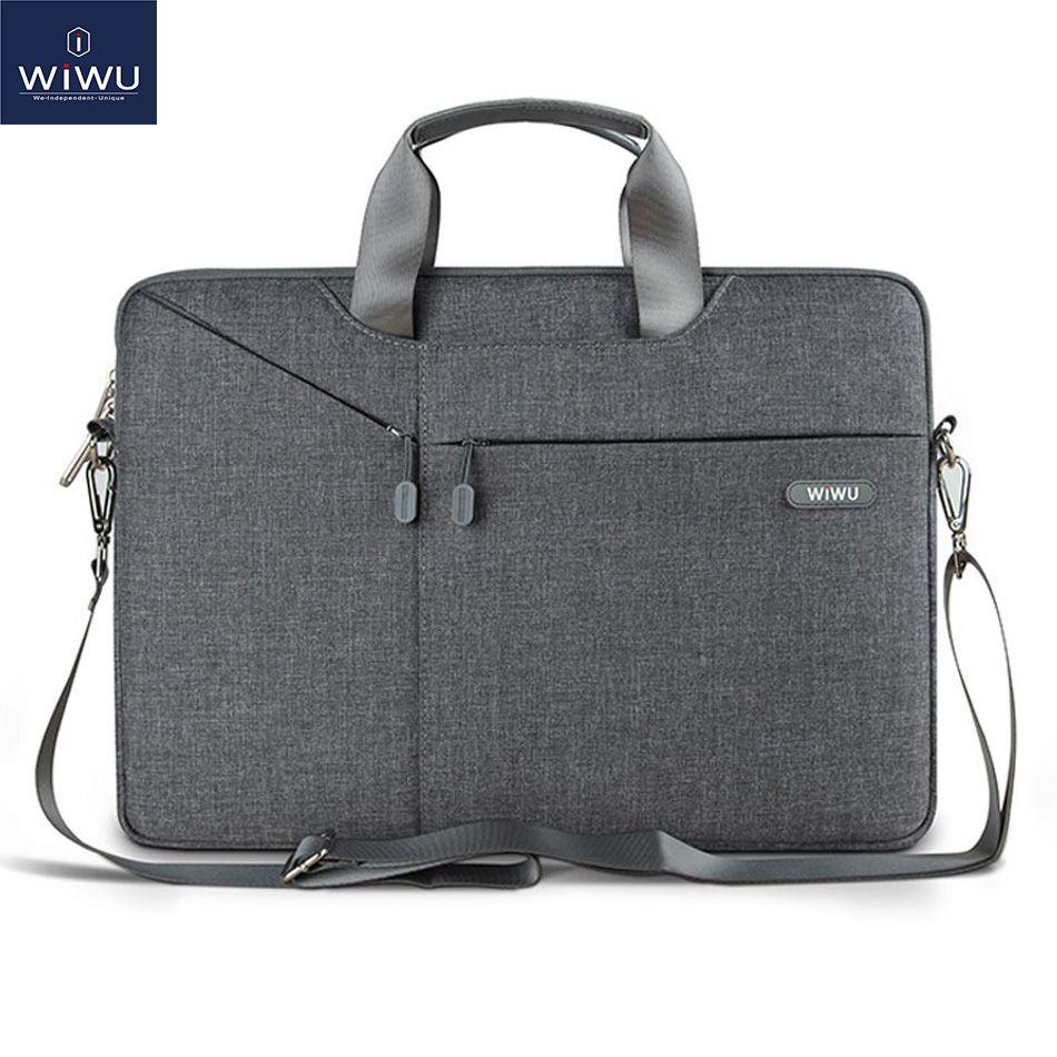 WiWU Ordinateur Portable Sac Cas 15.6 15.4 14.1 13.3 12 11 Messenger Sacs pour MacBook Air 13 Cas Étanche Portable Sac pour MacBook Pro 15
