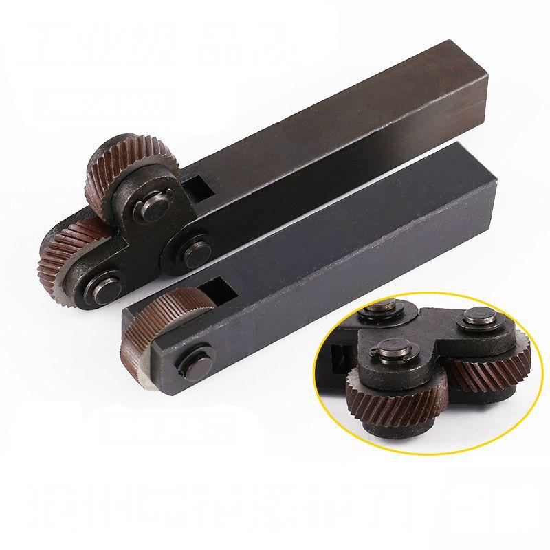 1 ensemble 26mm outil de moletage en acier Dia double/roues simples pas linéaire moletage ensemble tour Cutter machines-outils 0.6mm-3.0mm