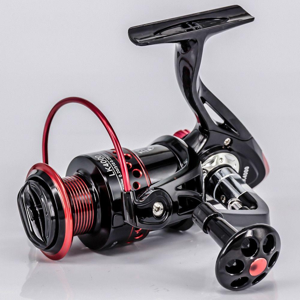Nouveau 13 + 1BB moulinet de pêche à rotation rapport de vitesse 5.2: 1 2000-7000 série métal avant poignée de traînée bobine accessoires de pêche en eau salée
