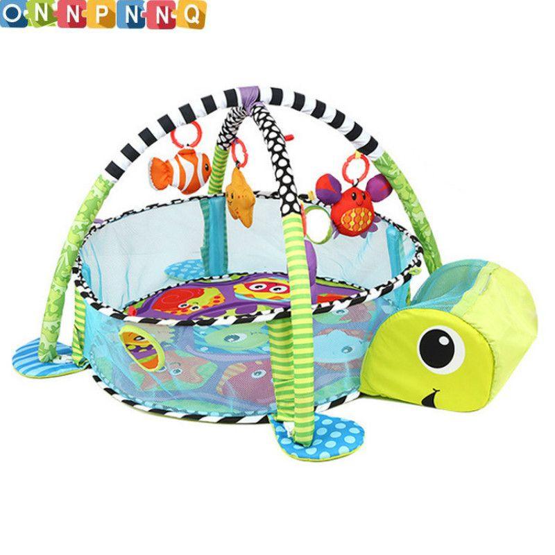 Lion Bébé Jouet Bébé Jouer Mat 0-1 Année Jeu Tapete Infantil Éducatifs Ramper Tapis De Jeu Gym Bande Dessinée Couverture piscine à balles