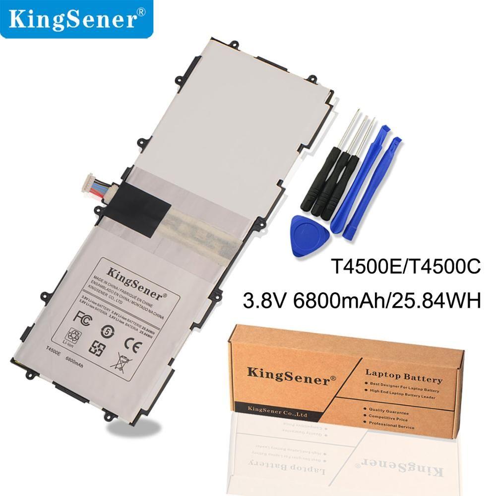 KingSener T4500E T4500C Batterie De Remplacement Pour Samsung Galaxy Tab 3 10.1 P5200 P5210 P5220 P5213 GT-P5200 SP3081A9H 6800 mah