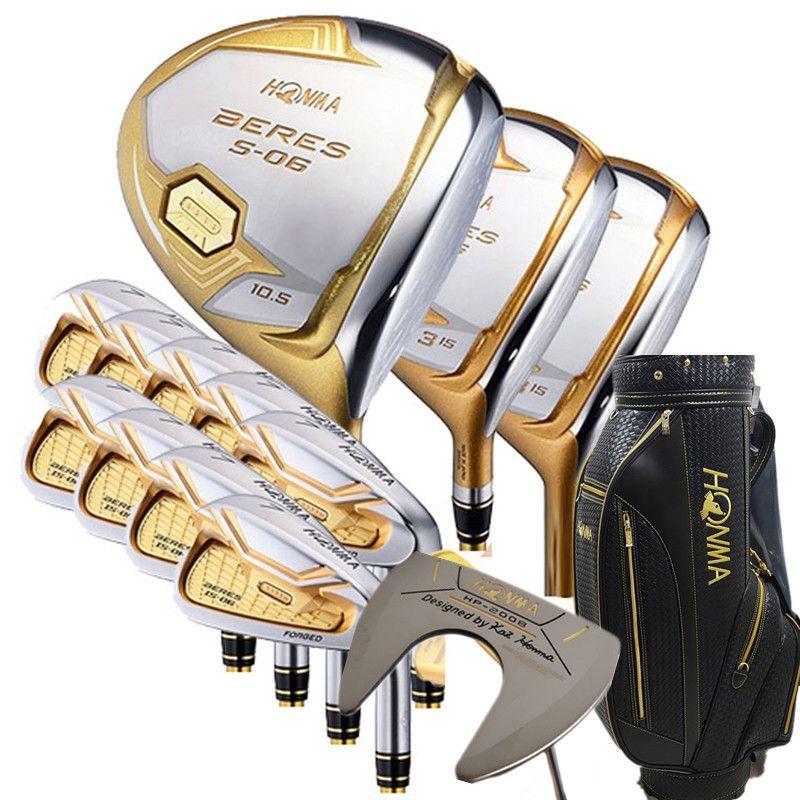 Golf Clubs Komplette Set Honma Bere S-06 4 sterne golf club sets Fahrer + Fairway + Golf eisen + putter (14 stück) + Golf tasche