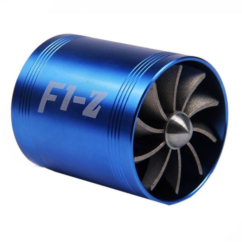 Auto Car Refit Turbo Air Intake Turbine Gas Fuel Oil Saver Fan Turbo Supercharger Turbine Fit for Air Intake Hose Dia 65-74mm