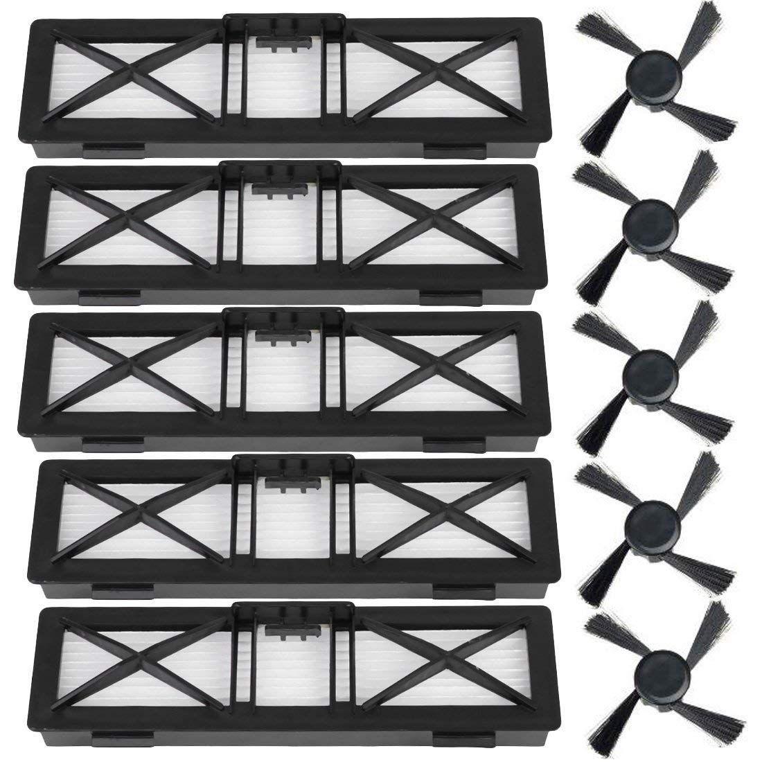 Remplacement Neato filtres brosse latérale pour Neato Neato Botvac D Series D85, D80, D75 Neato Botvac connecté Serie D5, D3 Cle à vide