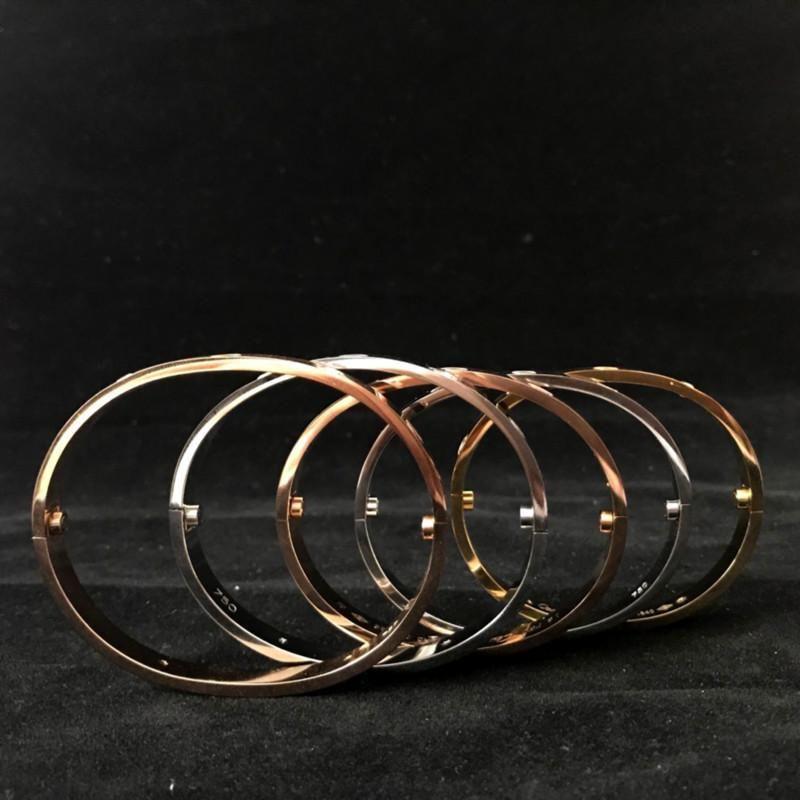 Pulseiras Titane bracelet en acier Femmes Hommes Amour H Bracelets & Bangles tournevis Feminina Masculina Avec sac à poussière