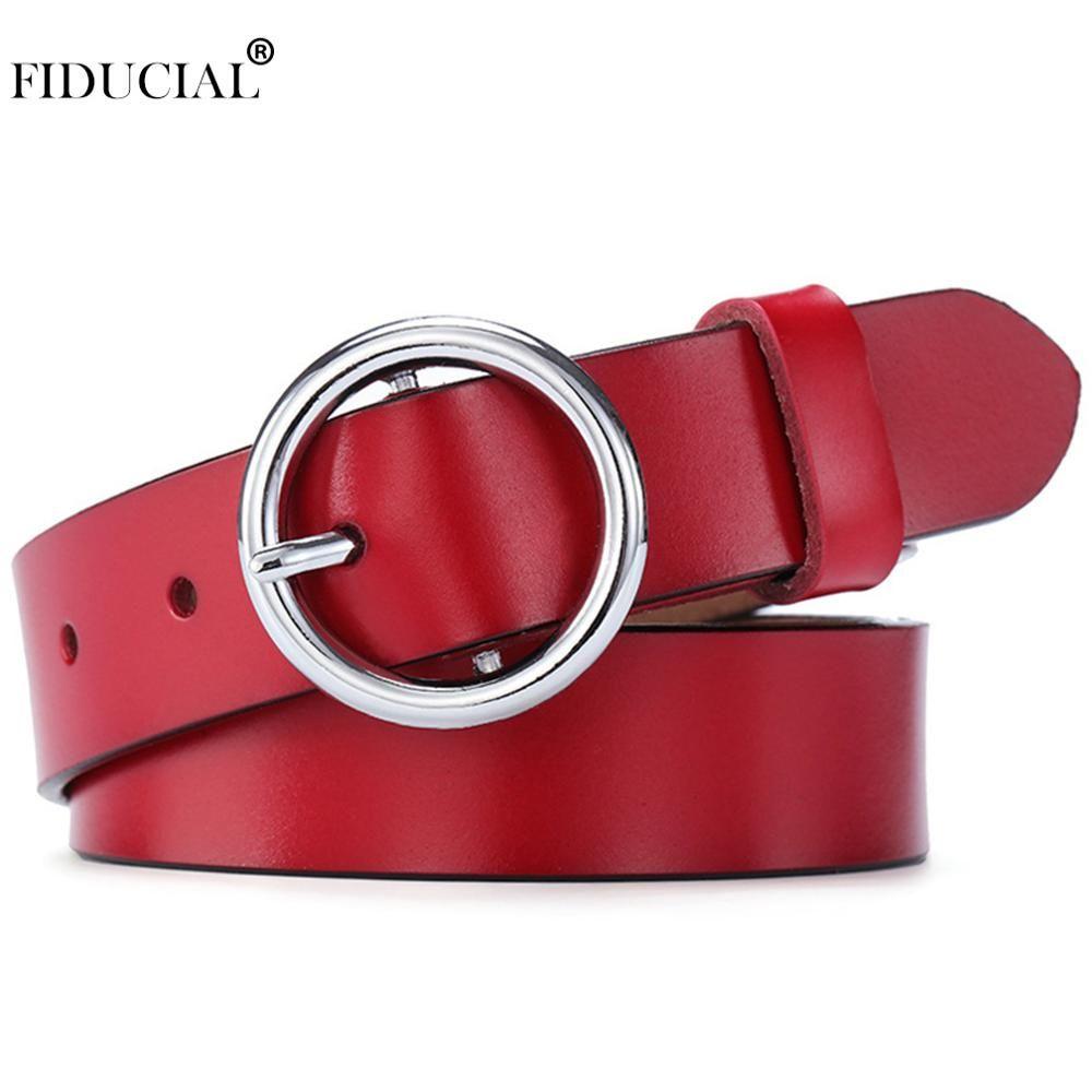 FIDUCIAL Neue Marke Designer frauen Kuh Haut Leder Weibliche Ring Muster Design Pin Schnallen Metall Gürtel 2,8 cm Breite 2019 FCO176