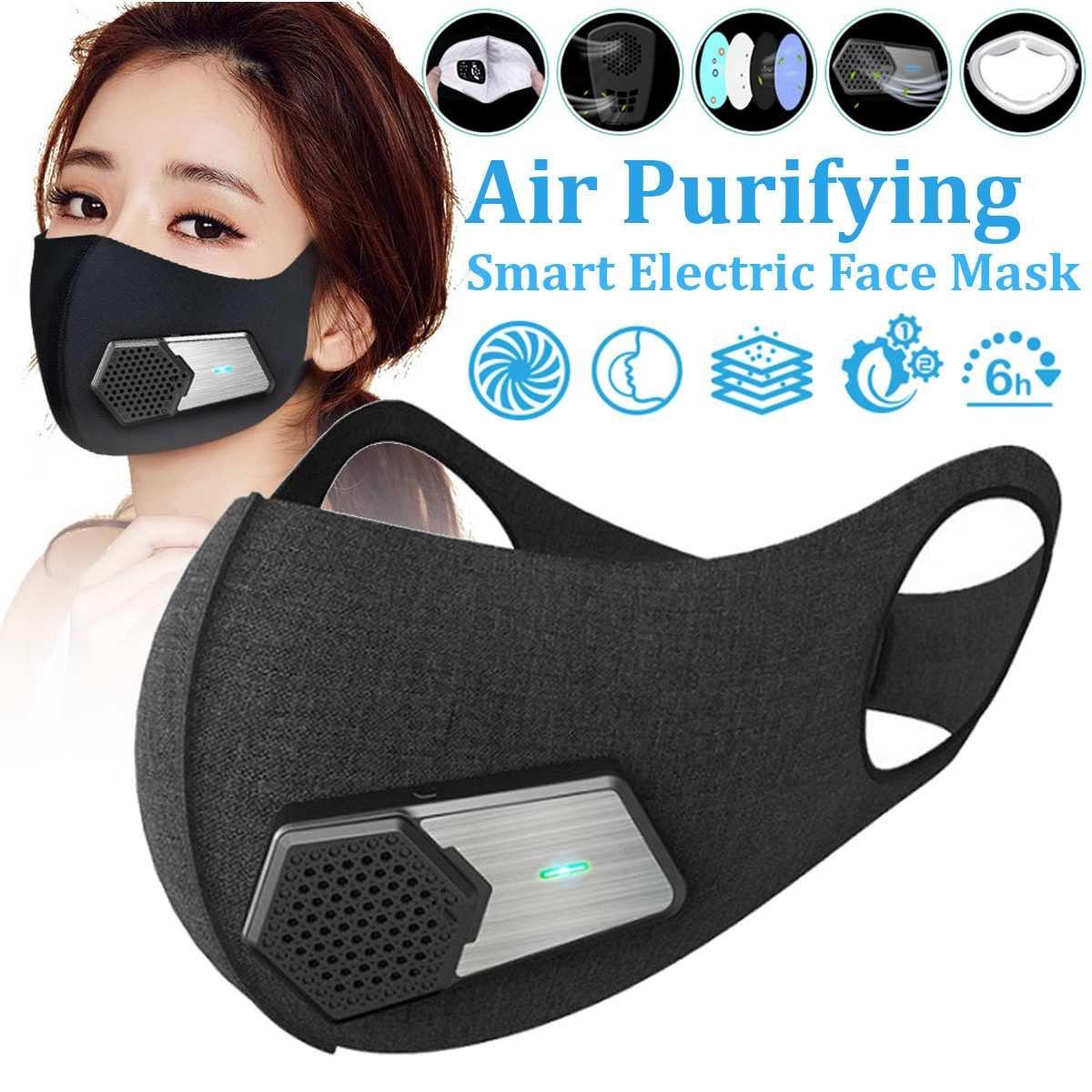 Smart Elektro Gesicht Staub Maske Luftreinigungs N95 Anti Staub Verschmutzung PM2.5 Mit Atmungs Ventil Arbeitsplatz Sicher Frische Luft Versorgung
