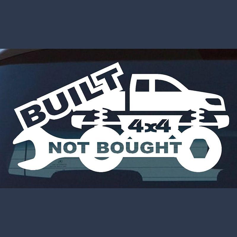 4x4 Auto Aufkleber Gebaut Nicht Gekauft Lustige Auto Fenster Auto Neuheit JDM Drift Vinyl Aufkleber Aufkleber