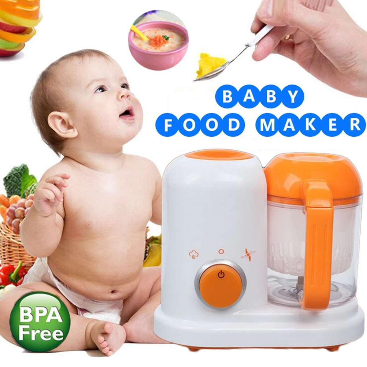 AC 200-250 v Elektrische Baby Lebensmittel Maker Kleinkind Mixer Dampfer Prozessor BPA FREI Alle In Einem Lebensmittel- abgestufte PP EU Dampf Lebensmittel Sicher
