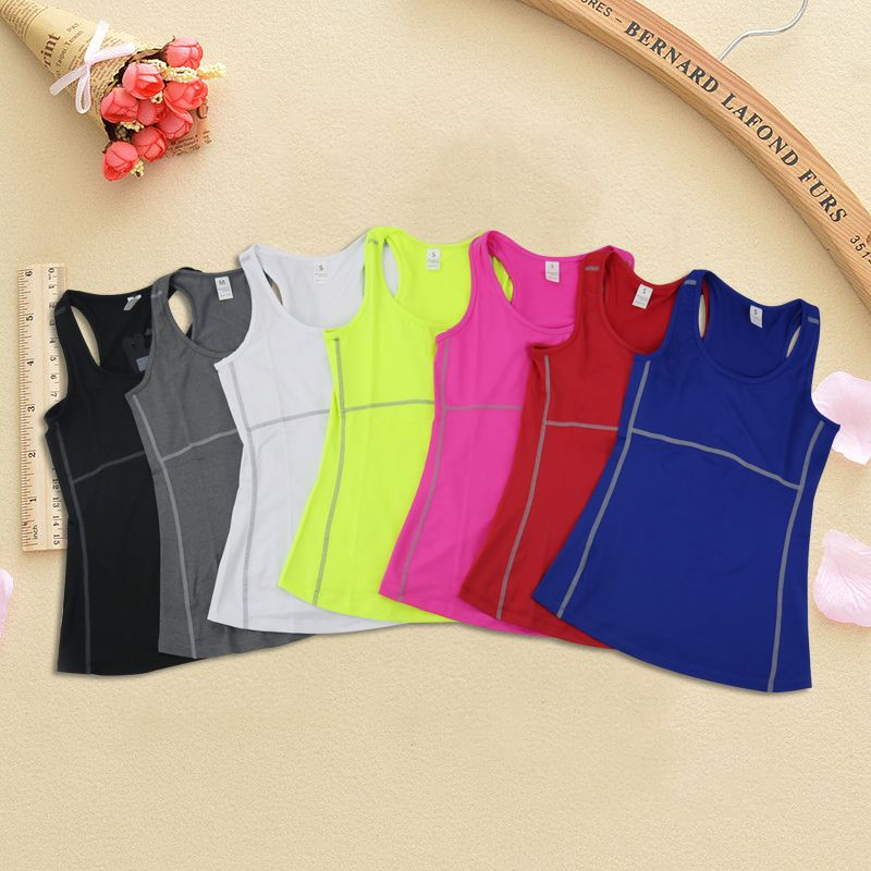 2019 dessus de Yoga gilet femmes haut de Sport réservoir Duick sec Fitness femme Sport chemise Gym dessus de Yoga femme t-shirt noir Yoga chemise