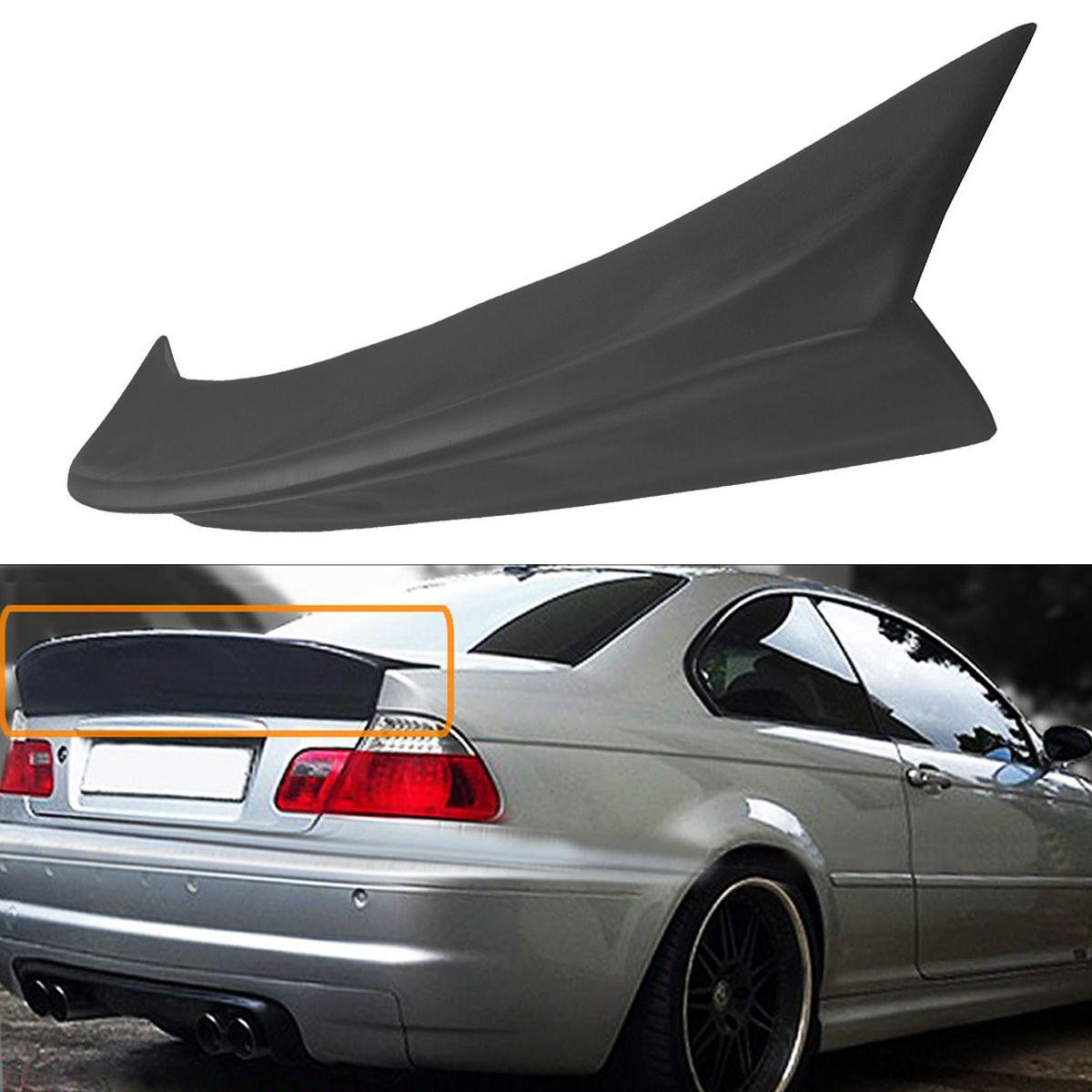 Hinten Polyurethan Stamm Entenschnabel HighKick Spoiler Flügel Deckel Spoiler für BMW E46 2DR Modell M3 CSL Stil 2001-2006 schwarz