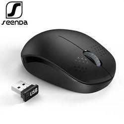 SeenDa Бесшумная беспроводная мышь 2,4 ГГц для ноутбука портативная мини Бесшумная мышь Бесшумная компьютерная мышь для настольного ноутбука PC...