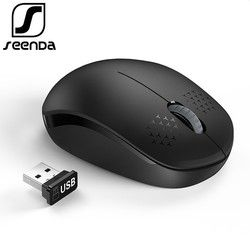 SeenDa Bersuara 2.4 GHz Mouse Nirkabel untuk Laptop Portable Mute Tikus Silent Komputer Mouse untuk Desktop Notebook PC Mause