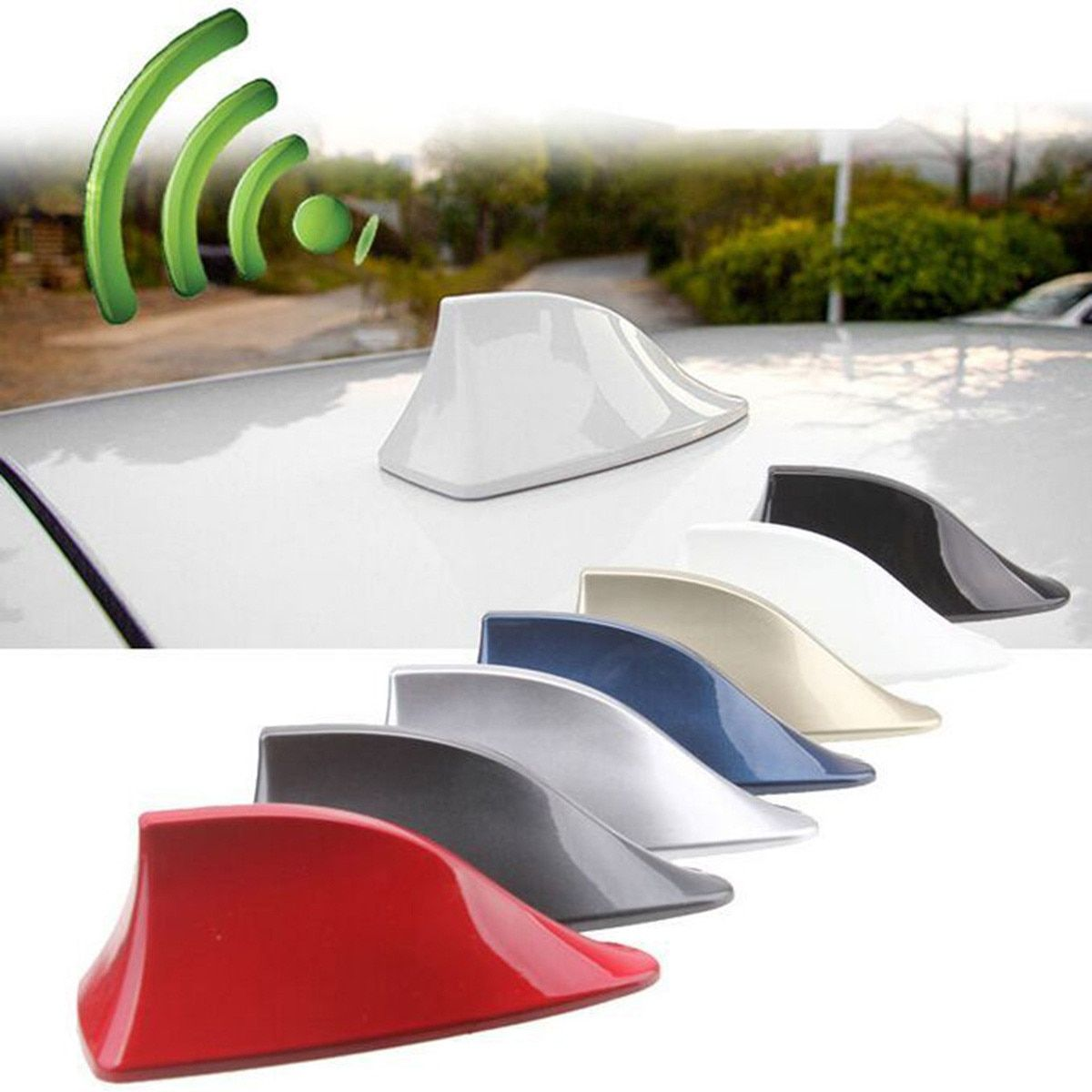 Auto Styling ABS Kunststoff Dach Stil Shark Fin Antenne Radio Signal Antennen Universial für Die Meisten Autos