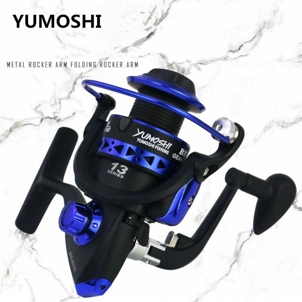 Professional Fishing Wheel 13 BB BK1000-7000 Series 5.1:1 speed reatio spinning fishing reel interchanged left/right hand wheel