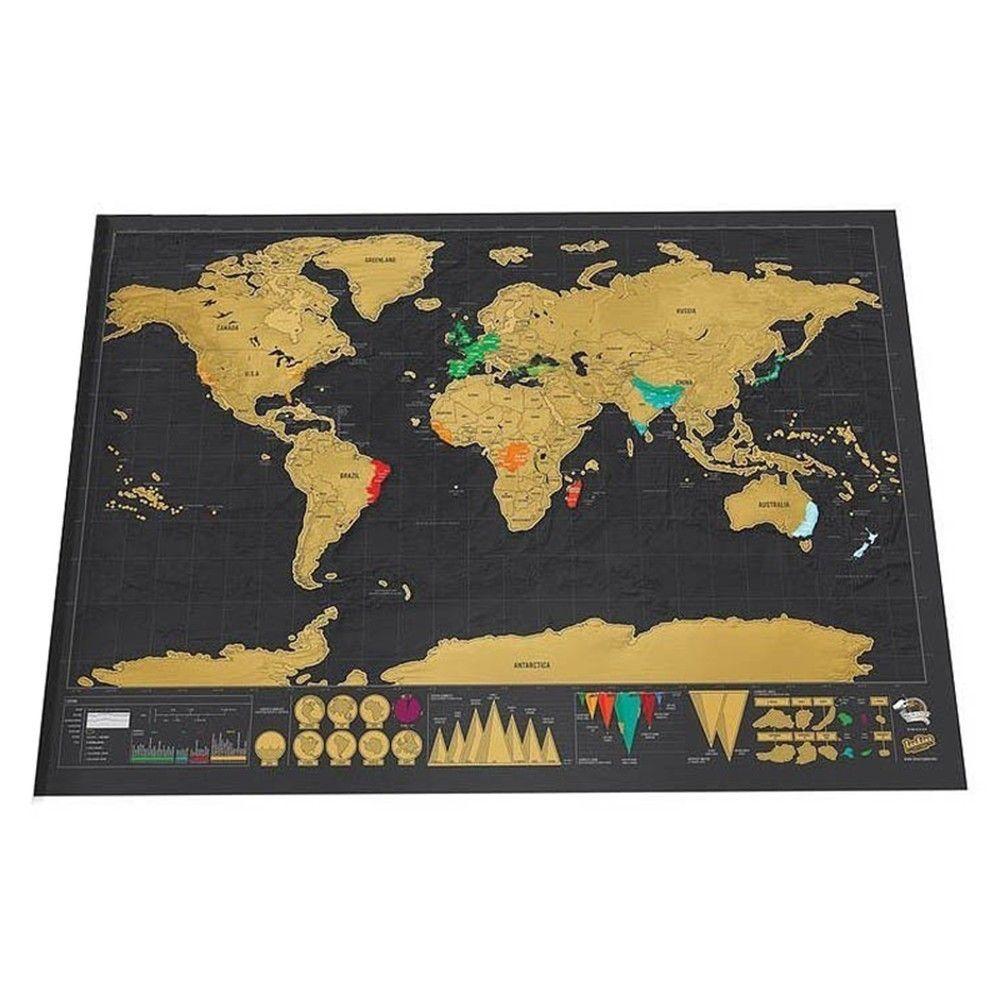 Deluxe effacer monde voyage carte gratter carte du monde voyage gratter pour carte 82.5x59.4 cm chambre maison bureau décoration Stickers muraux