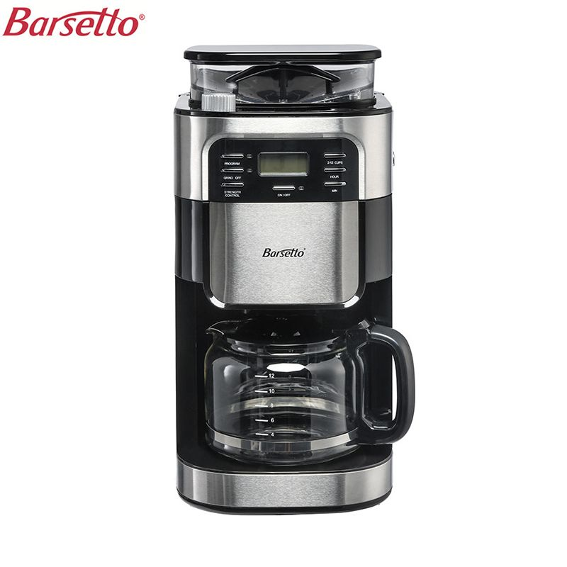 BARSETTO 1500 ml Haushalts Automatische Kaffee Maschine Bean Mehl Schleifen Kaffee Maker Eu-stecker