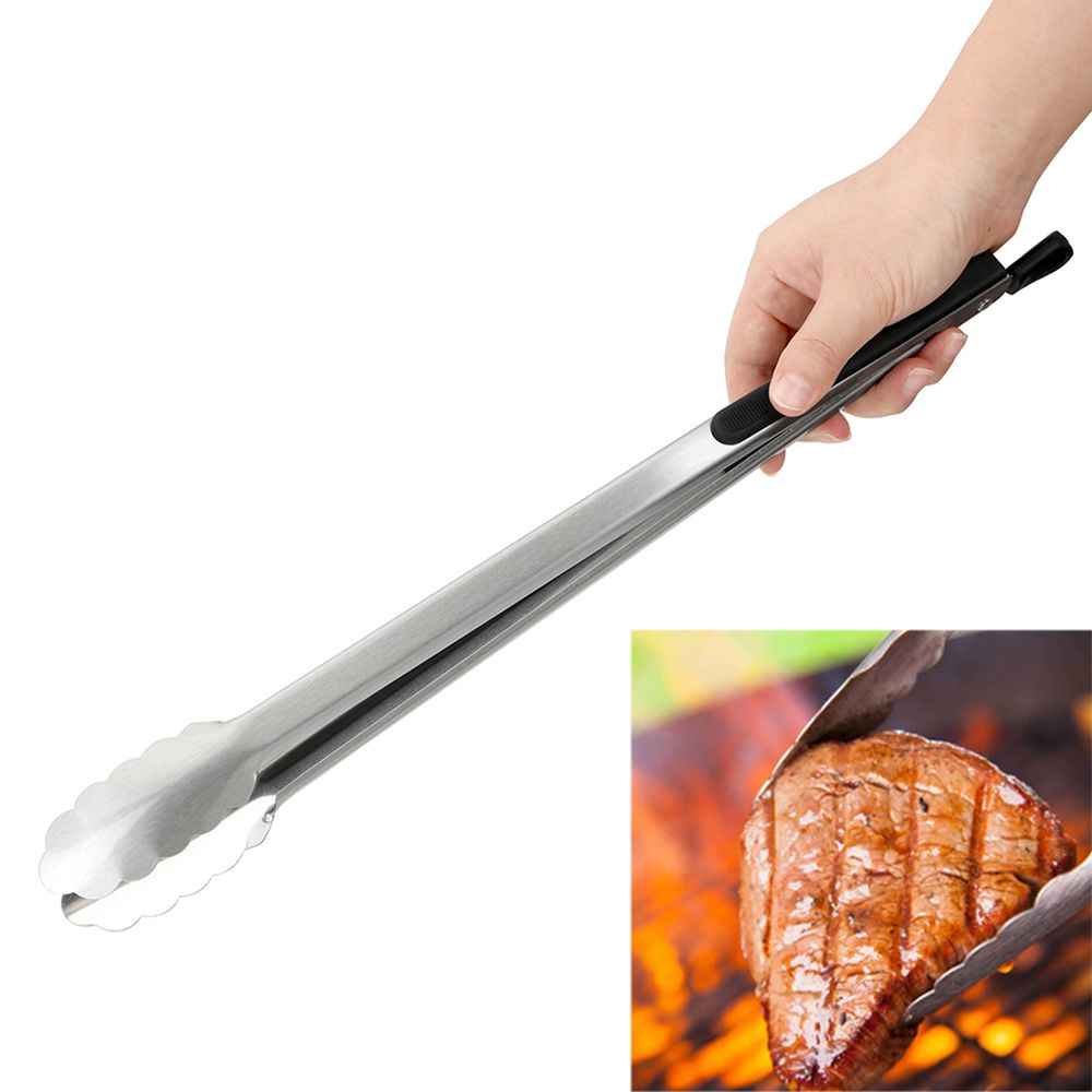 Barbecue Salad Food Clip BBQ Tongs Stainless Steel Kitchen Tools Multifunction Grill Tools