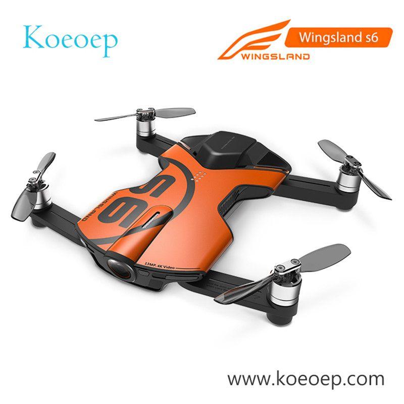 Original Wingsland S6 Tasche Selfie Drohne Kamera Faltbare Quadcopter WiFi FPV Mit 4 karat HD Kamera Auf Lager