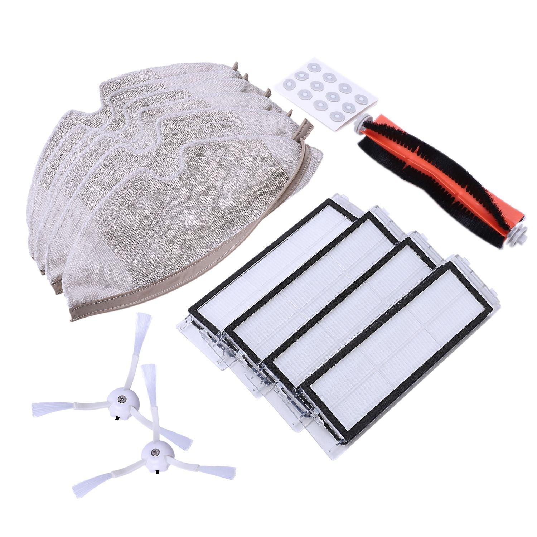 25 pcs/lot Nouvelle brosse Principale Hepa Filtre brosse Latérale Vadrouille chiffons Kit pour Xiaomi mijia robot roborock s50 s51 roborock 2