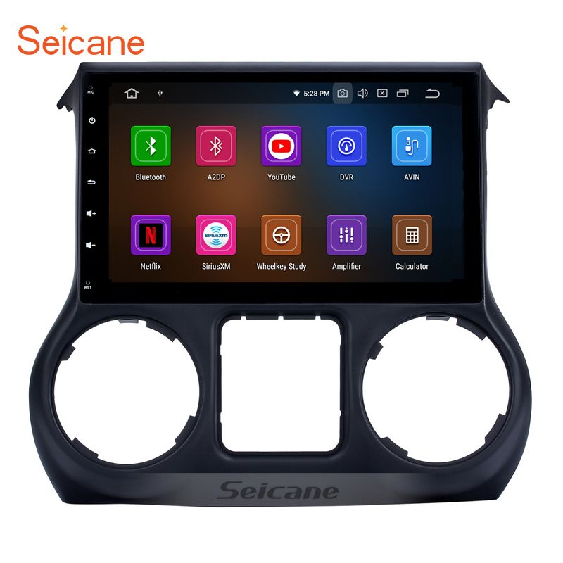 Seicane 10,1 ''Android 9.0 IPS 8-core Auto Radio GPS Unit Player Für 2011-2015 2016 2017 JEEP wrangler Unterstützung TPMS 4G Carplay