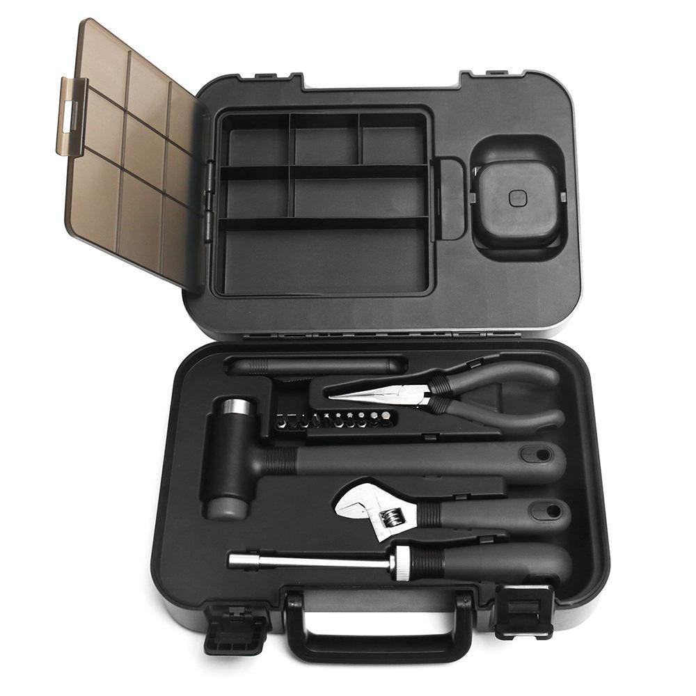XIAOMI MIIIW 16 Pcs Tool Kit ToolBox Allgemeine Haushalt Hand Werkzeug mit Schraubendreher Hammer Herrscher Auto Hause Reparatur Toolbox