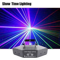 إظهار الوقت RGB الليزر صورة خطوط شعاع بالاشعة DMX DJ الرقص بار القهوة عيد الميلاد المنزل حزب ديسكو تأثير الإضاءة نظام إضاءة تظهر
