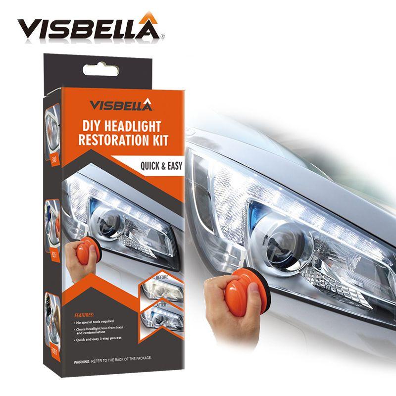 Visbella Kit de réparation du système de restauration des phares bricolage kit de réparation de l'entretien des phares de voiture