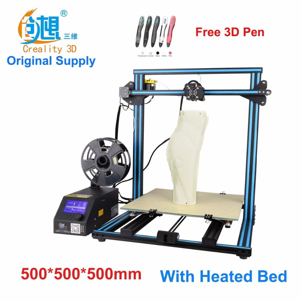 Creality CR-10-Max  large printing size DIY desktop 3D printer 500*500*500 mm printing size  multi-type filament with heated bed