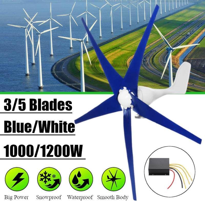Weiß/Blau Wind für Turbine Generator Drei oder Fünf Wind Klingen Option 1000/1200 W Wind Controller Geschenk fit für Home Oder Camping