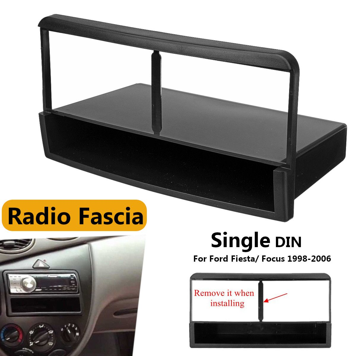 Auto Stereo Radio DVD Fascia Panel Platte Rahmen 1 Din Panel Audio Dash Mount Kit Adapter für Ford für Fiesta für Fokus 1998-2006