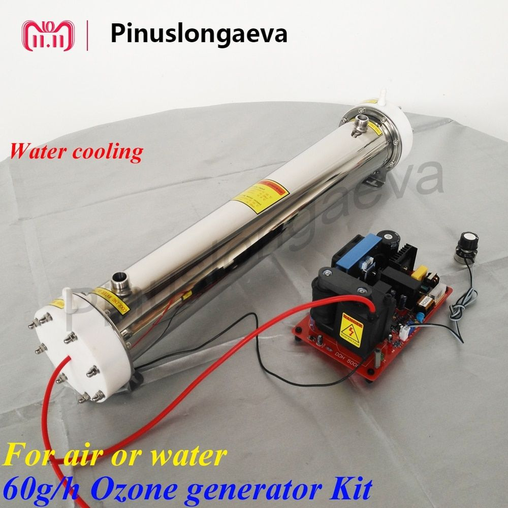 Pinuslongaeva 60 gr/std 60 gramm einstellbare Quarz rohr typ ozon generator Kit abwasser behandlung ozonator für schwimmbad