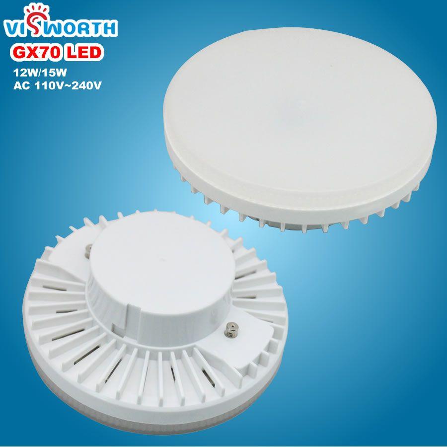 [VisWorth] GX70 lampe à LED 12 W 15 W Smd2835 45 pièces Led Lumière AC 110 V 220 V 240 V Projecteur Chaud Blanc Froid ampoule LED Pour Salon