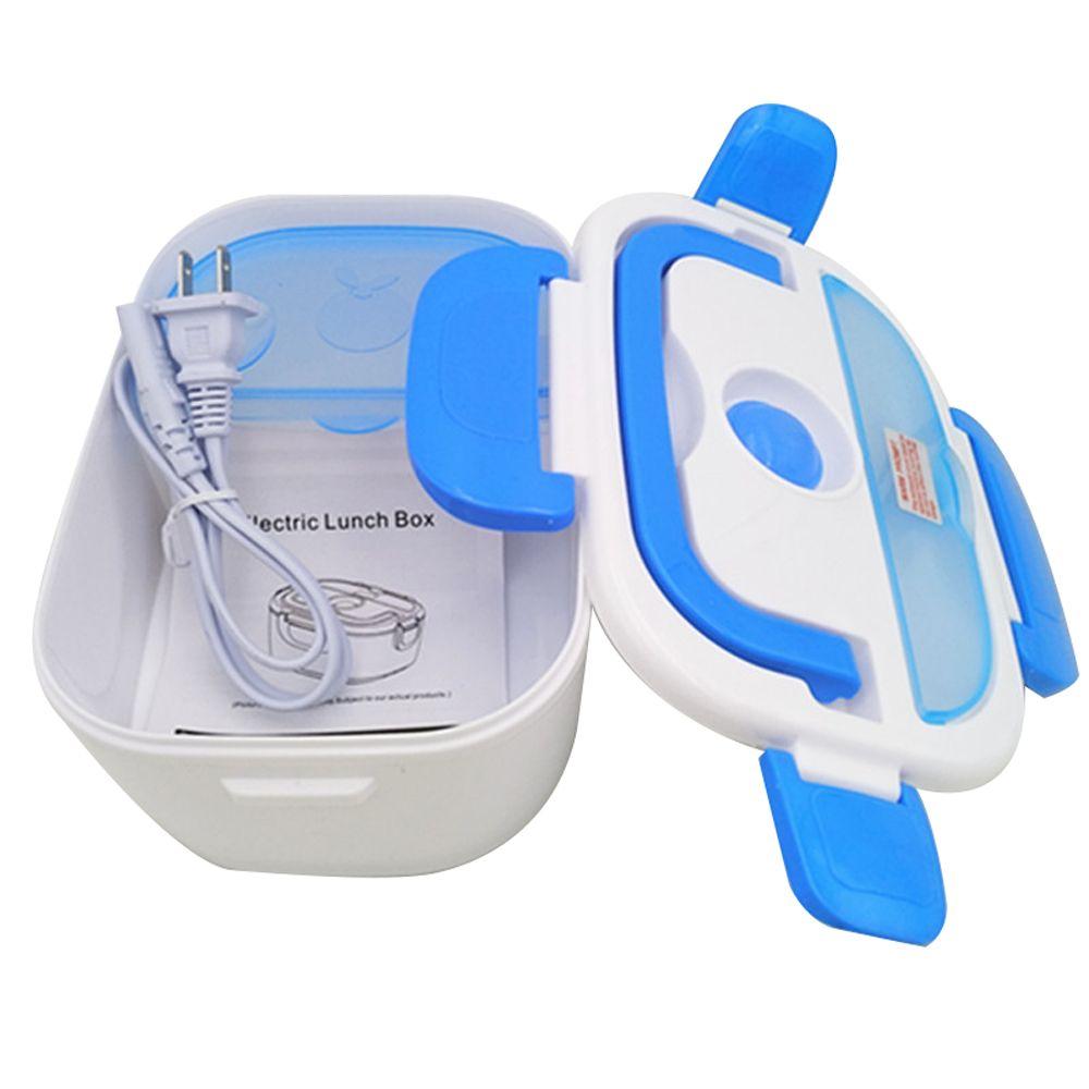 Électrique tupperware avec compartiments Bureau de L'école Bento Boîte Chauffée boîte à déjeuner pour Enfants récipient pour aliments Chaud Une Cuillère