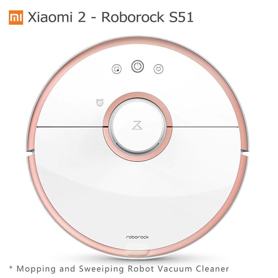 Xiaomi Robot Vacuum Cleaner Roborock S50 Wet Mopping Sweeping Robot Vacuum Cleaner Mijia Mihome APP Wifi Remote Control S51 S55