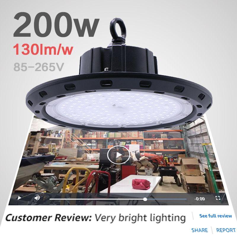 Garage licht werkstatt lampe rund lichter auf die feld 200 w hohe bucht luminaria industrielle bau lampe ufo led arbeit licht