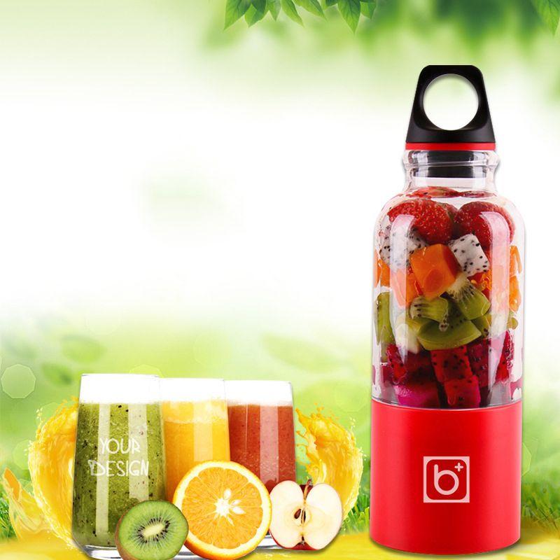 500ml Portable Juicer Cup USB Rechargeable Electric Automatic Bingo Vegetables Fruit Juice Tool Maker Cup Blender Mixer Bottle