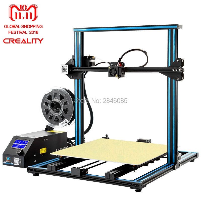CREALITY 3D Drucker CR-10 S4 mit Dual Z Stange Kit Filament Monitor Erkennen Lebenslauf Power Off Prusa i3 Dual Z stange 400x400x400mm