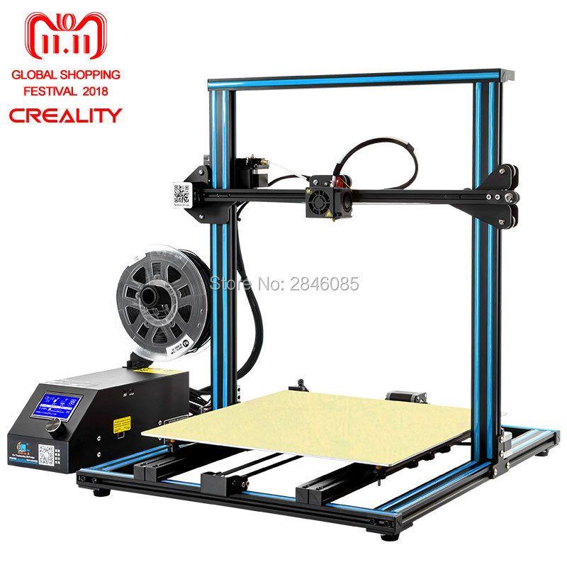 CREALITY 3D Drucker CR-10 S4 mit Dual Z Stange Kit Filament Monitor Erkennen Lebenslauf Power Off Prusa i3 Dual Z stange 400x400x400mm