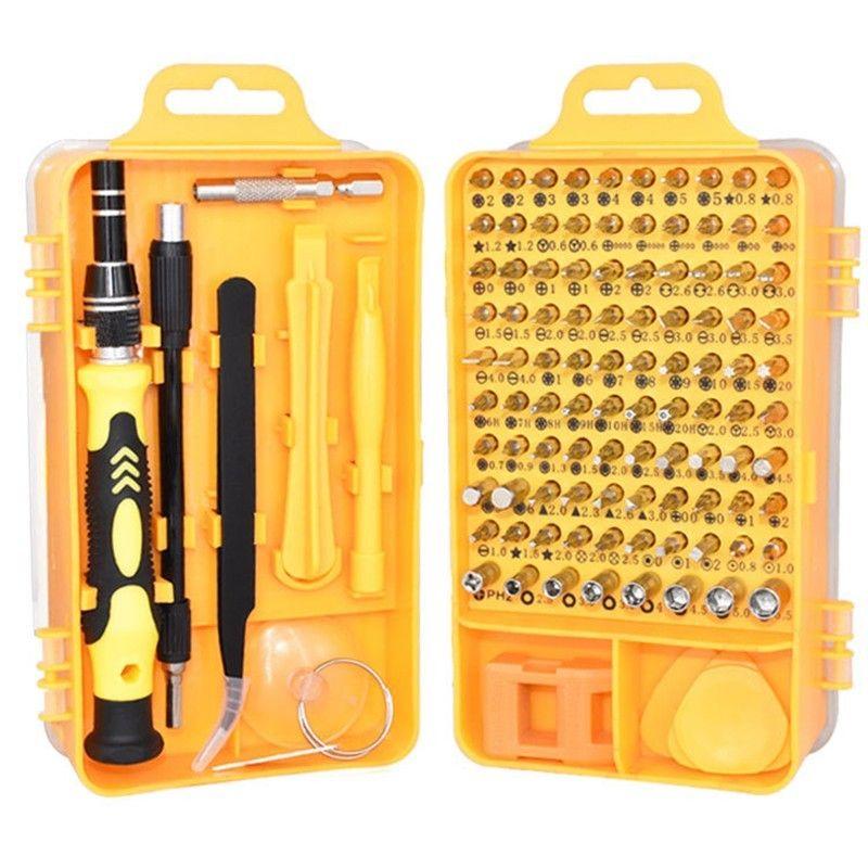 Ensemble de tournevis Torx magnétique 110 en 1, tournevis de précision Muti pour Kits d'outils à main de téléphone PC avec pince à épiler