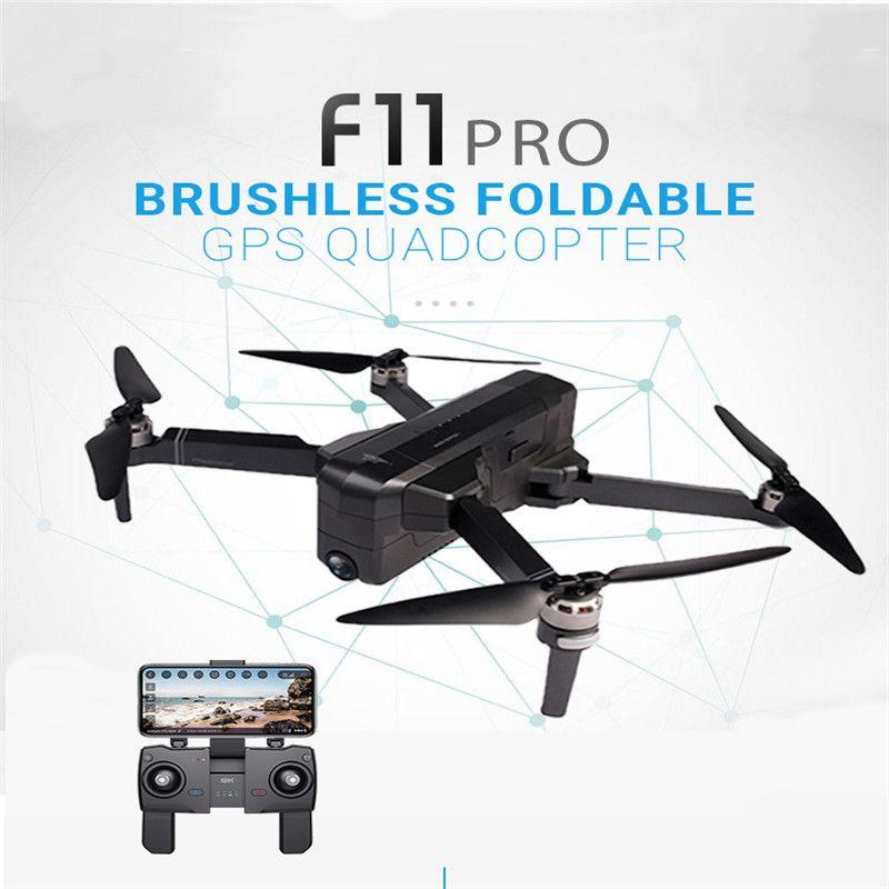 SJRC F11 PRO GPS 5G Wifi 500 m FPV Mit 2 K Weitwinkel Kamera 28 Minuten Flugzeit bürstenlosen Faltbare RC Drone Quadcopter RTF