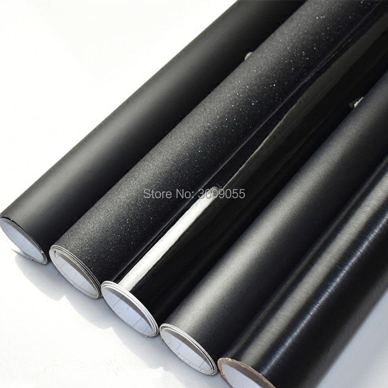 Schwarz Glänzend Vinyl Film Gloss Schwarz Wrap Blase Free Car Wrapping Größe: 1,52*30 mt/Rolle