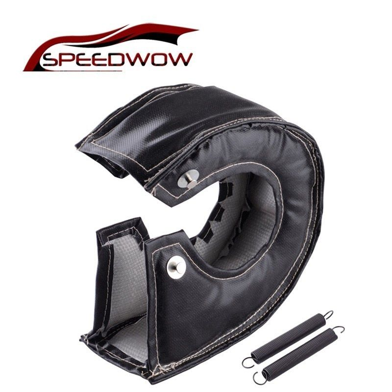 SPEEDWOW Turbo Heat Shield Turbocharger Blanket Cover For T2 T25 T28 GT28 GT30 GT35 For Most T3 Turbine Housing Turbo Charger