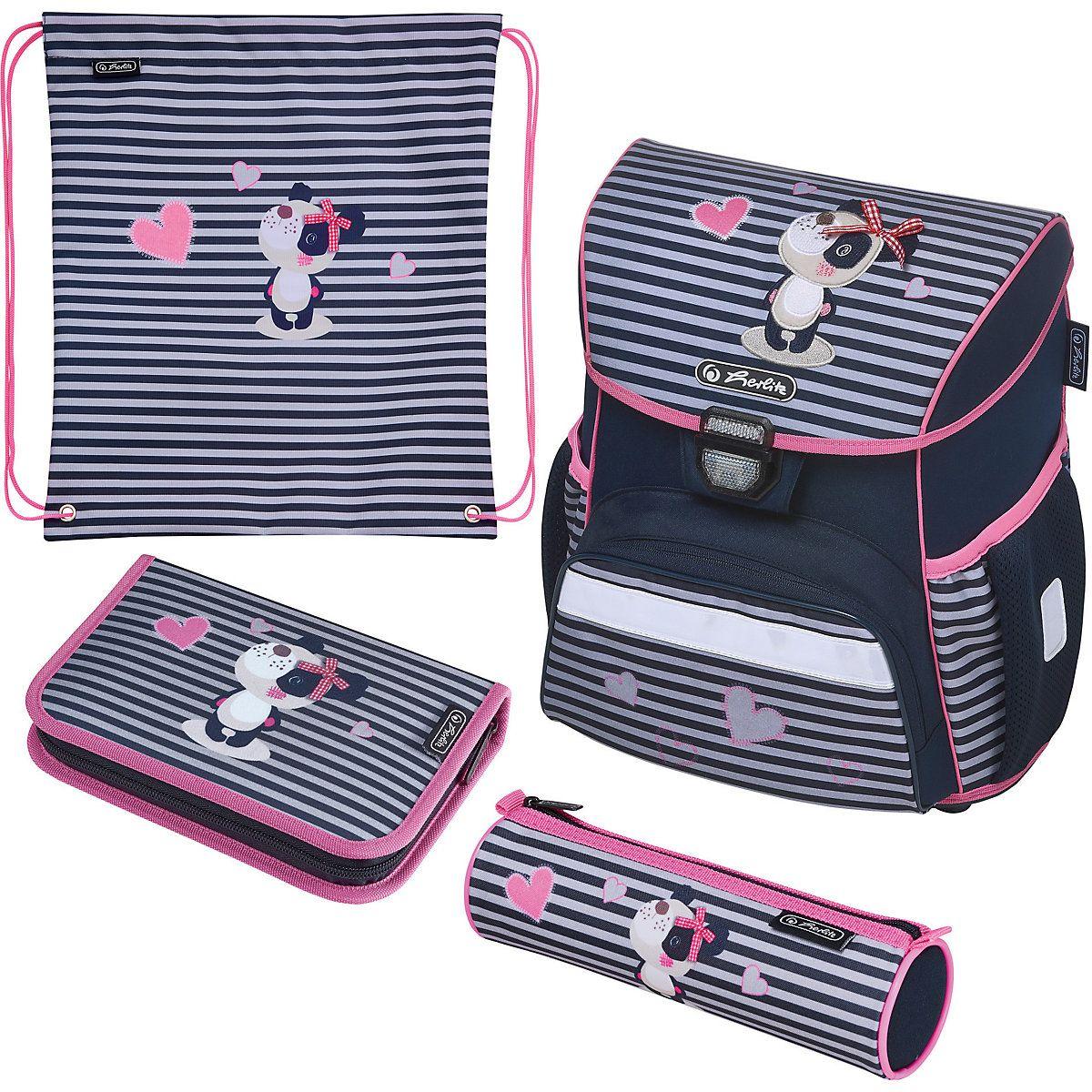 Schule Taschen HERLITZ 10992549 schul rucksack orthopädische tasche für jungen und mädchen tiere blumen
