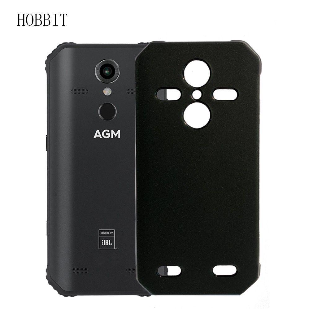 Coque noire mate pour AGM A9 A9 JBL H1 étui arrière souple en silicone or polyuréthane thermoplastique coque arrière antichoc pour coque de téléphone agm X3