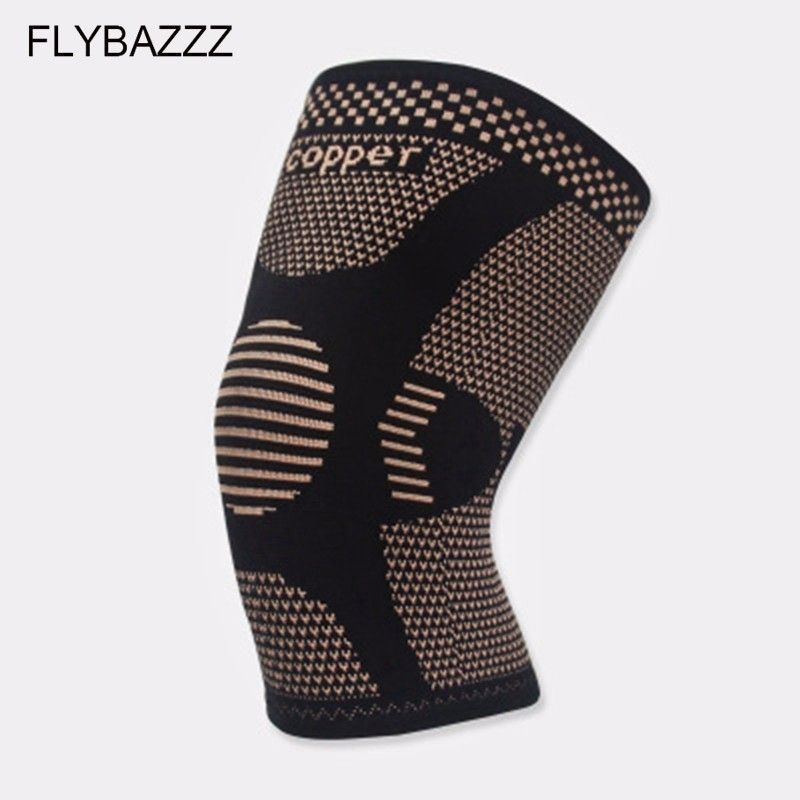 FLYBAZZZ New Copper Fiber Kneepad Motion Ventilation Kneepad Elastic Force Motion Kneepad Cycling Basketball Protective Clothing