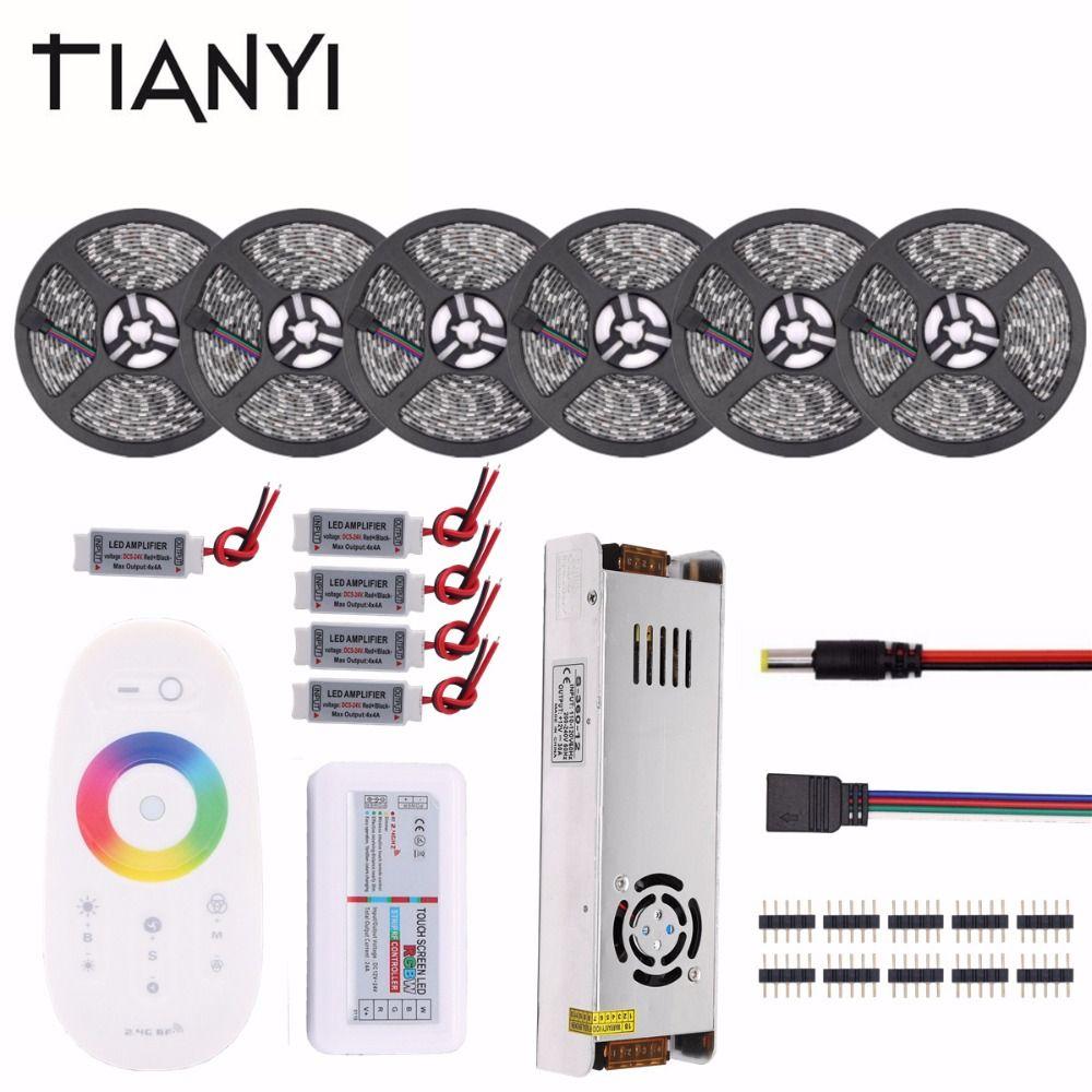 5050 RGB LED Strip Waterproof 5M 10M 15M 20M 30M DC 12V RGBW RGBWW LED Light Strips 60led/m Flexible Tape add Controller Power