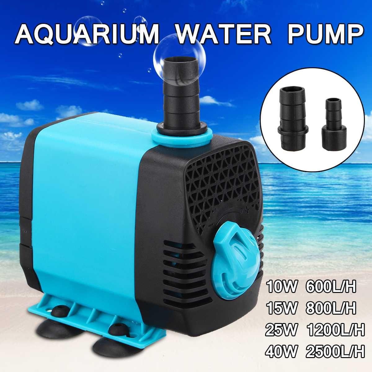 10/15/25/40W 220V multifonctionnel Aquarium pompes à eau réservoir étang piscine fontaines pompe étanche Submersible poisson étang pompe à eau