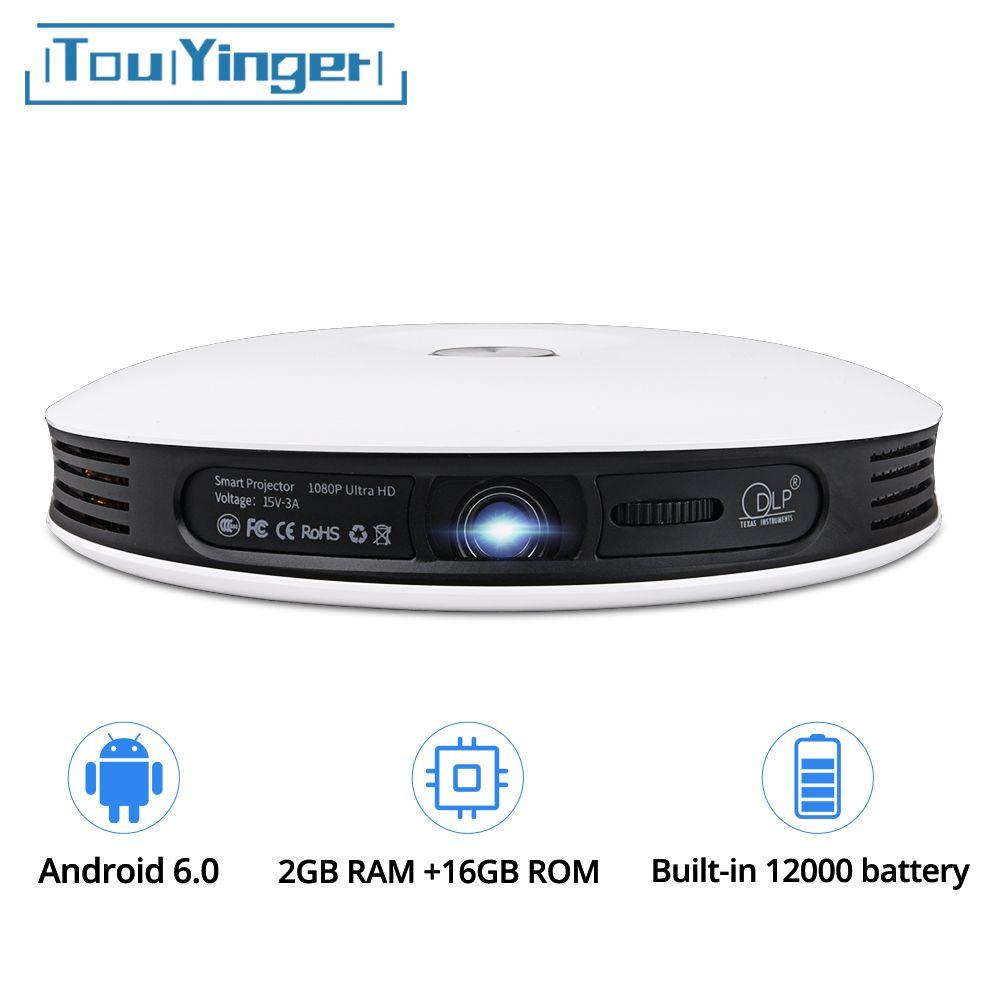 TouYinger G4 200 ''Android 2D zu 3D Mini DLP Projektor Full HD 4 K video wifi Bluetooth HDMI LED tragbaren heimkino USB Beamer