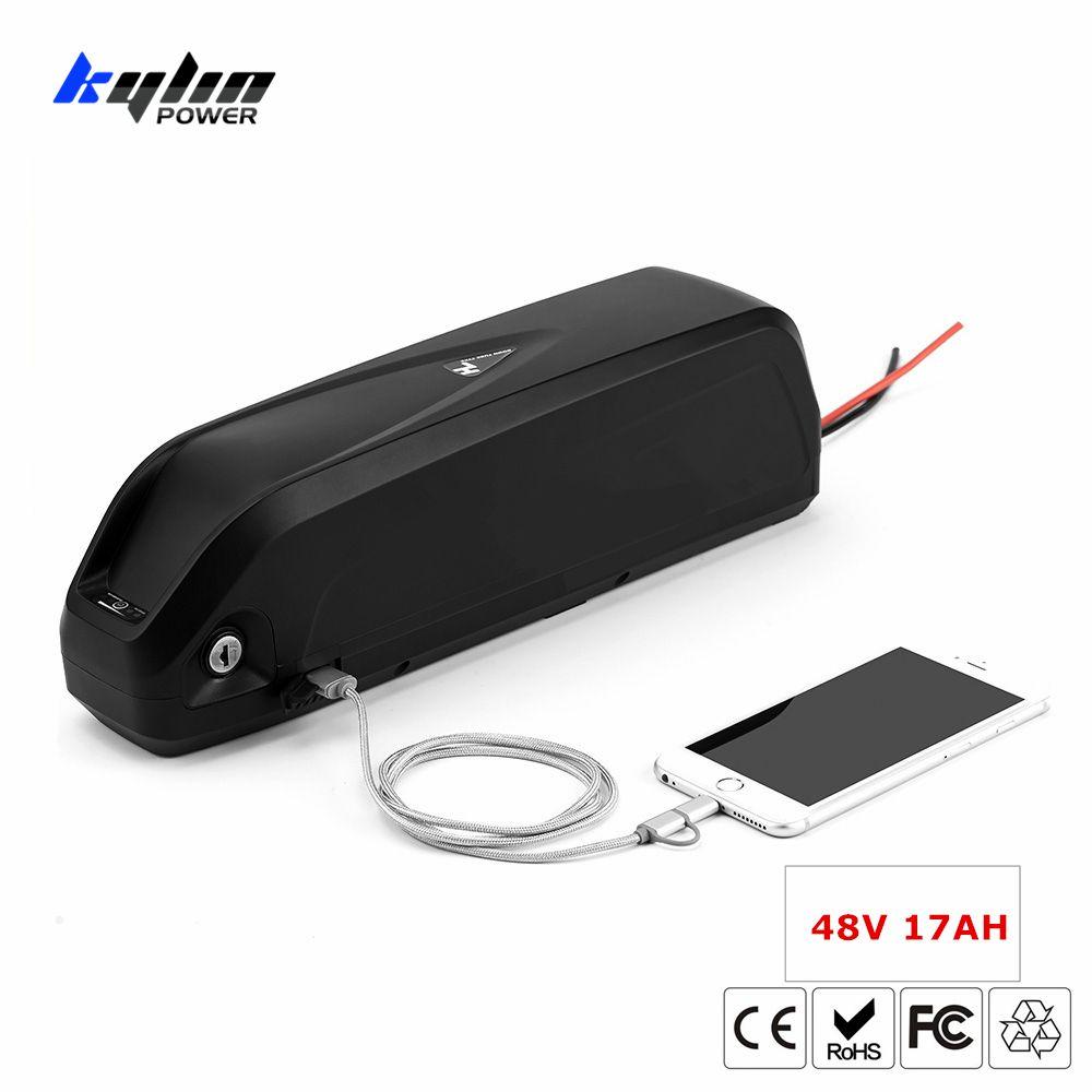 48V 17AH Lithium-ionen Elektrische E Bike Batterie Hailong Ebike mit 30A BMS mit 3400mah 18650 Zellen für bafang Fahrrad Motor